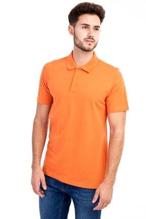 Kiğılı Erkek Turuncu Polo Yaka Düz Slimfit T-Shirt - 9093