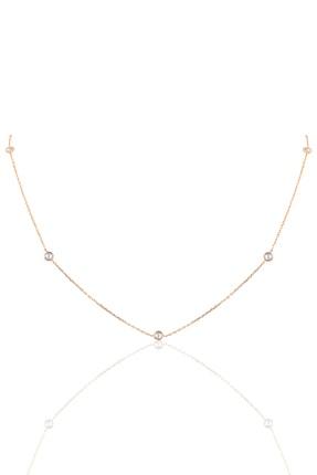 Söğütlü Silver Gümüş Sıra Taşlı 45 Cm Kolye SGTL9830