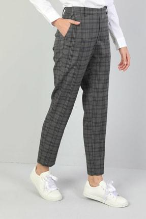 Colin's Slim Fit Düşük Bel Düz Paça Kadın Koyu Gri Pantolon