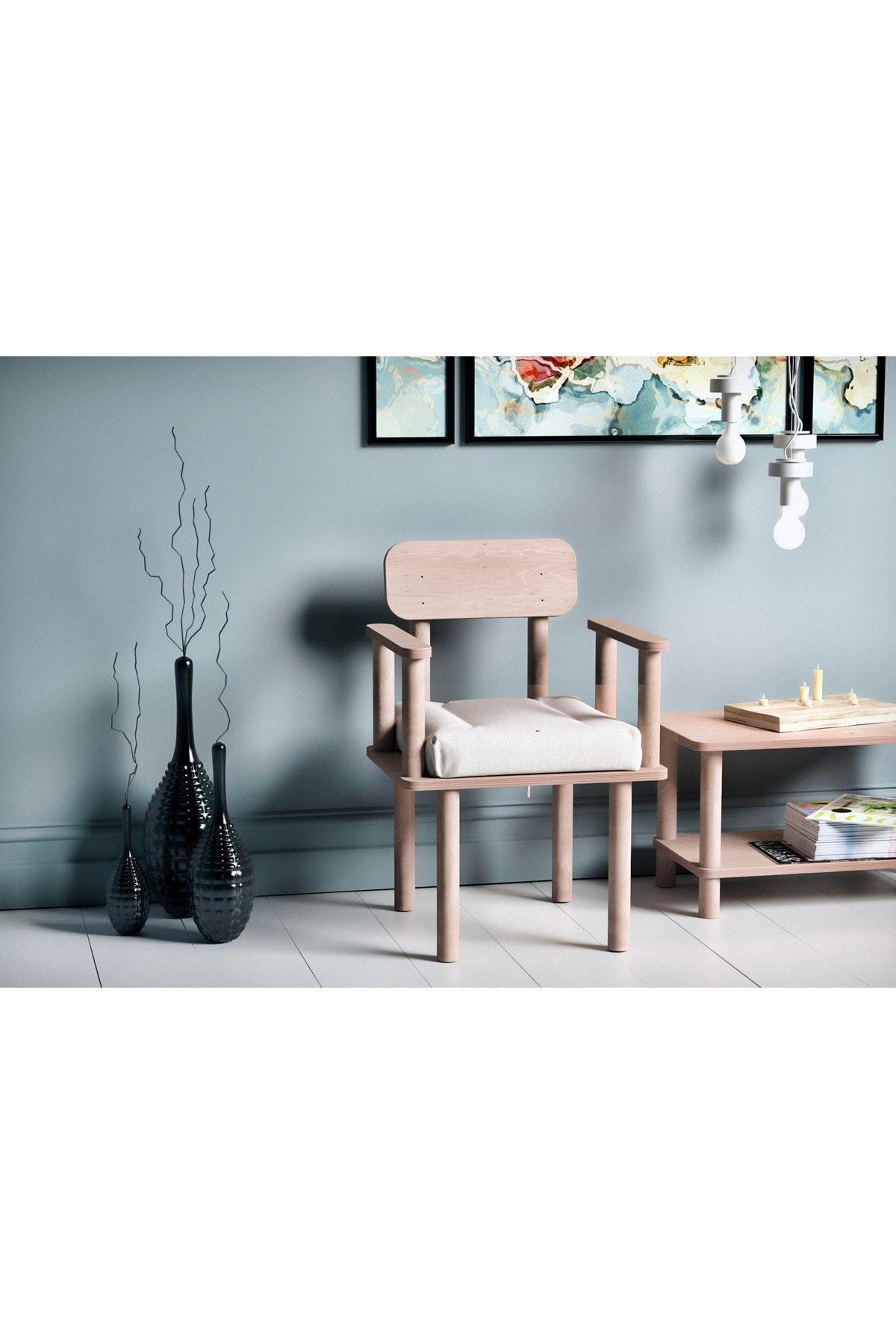 VUDIVA Magnesia Kolçaklı Sandalye Beyaz
