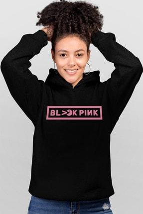 Rock & Roll Blackpink Pac Siyah Kapşonlu Kadın Sweatshirt