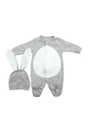 Murat Baby Şapkalı Ponpon Kuyruklu 2 Li Bebek Tulumu K2968