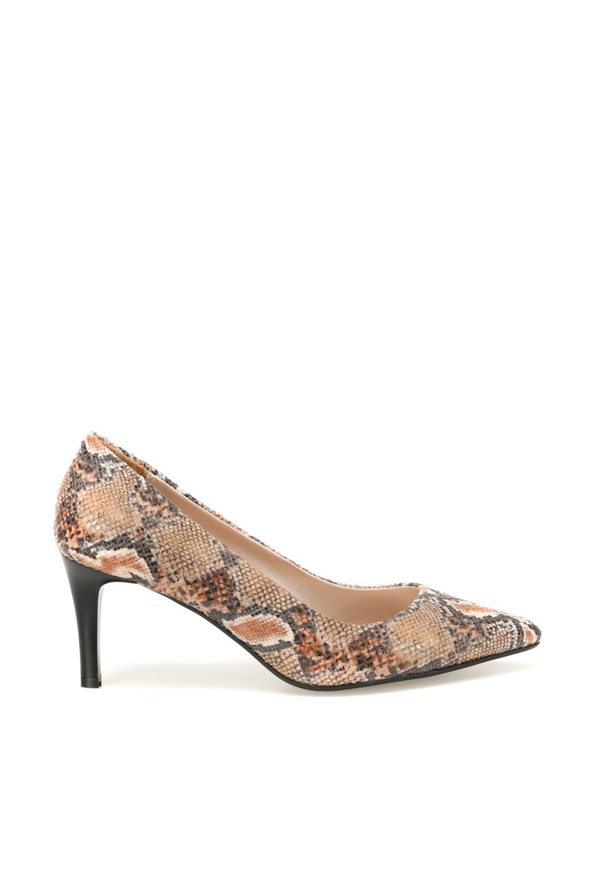 Miss F DW19002 Yılan Rengi Kadın Topuklu Ayakkabı 100439645 2