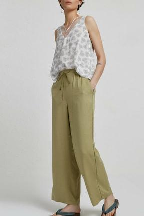 Yargıcı Kadın Açık Yeşil Biye Detaylı Pantolon 9KKPN3128X