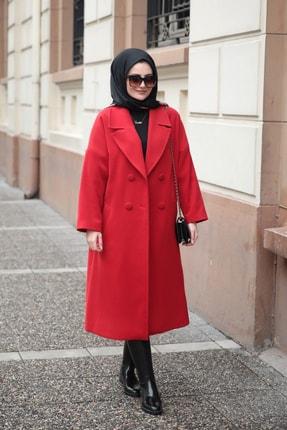 SEDA TİRYAKİ Kadın Kırmızı Kaban 12456732