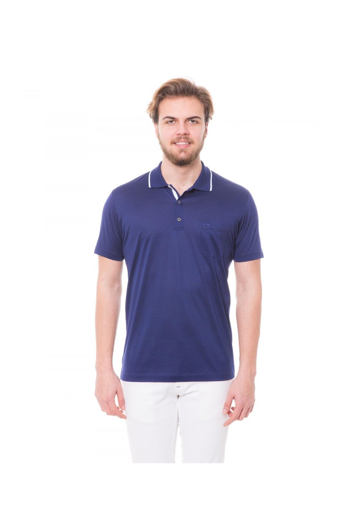 Karaca Lacivert Erkek Polo Yaka T-Shirt 117106104