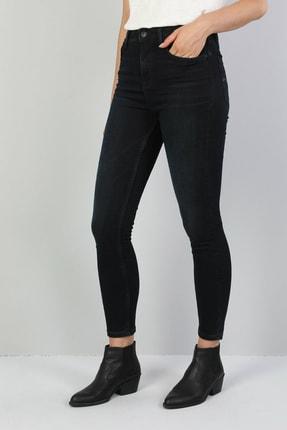 Colin's KADIN 760 Dıana Yüksek Bel Dar Paça Super Slim Fit Koyu Mavi Kadın Jean Pantolon CL1046987