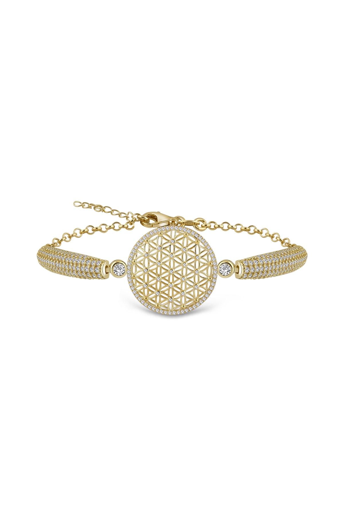 Gümüş Çarşısı Kadın Yaşam Çiçeği Gümüş Bileklik GCB723 1