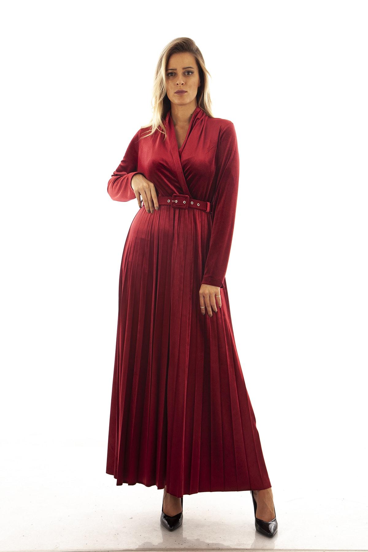 Ardanewline Kadın Bordo Elbise 1024235 1