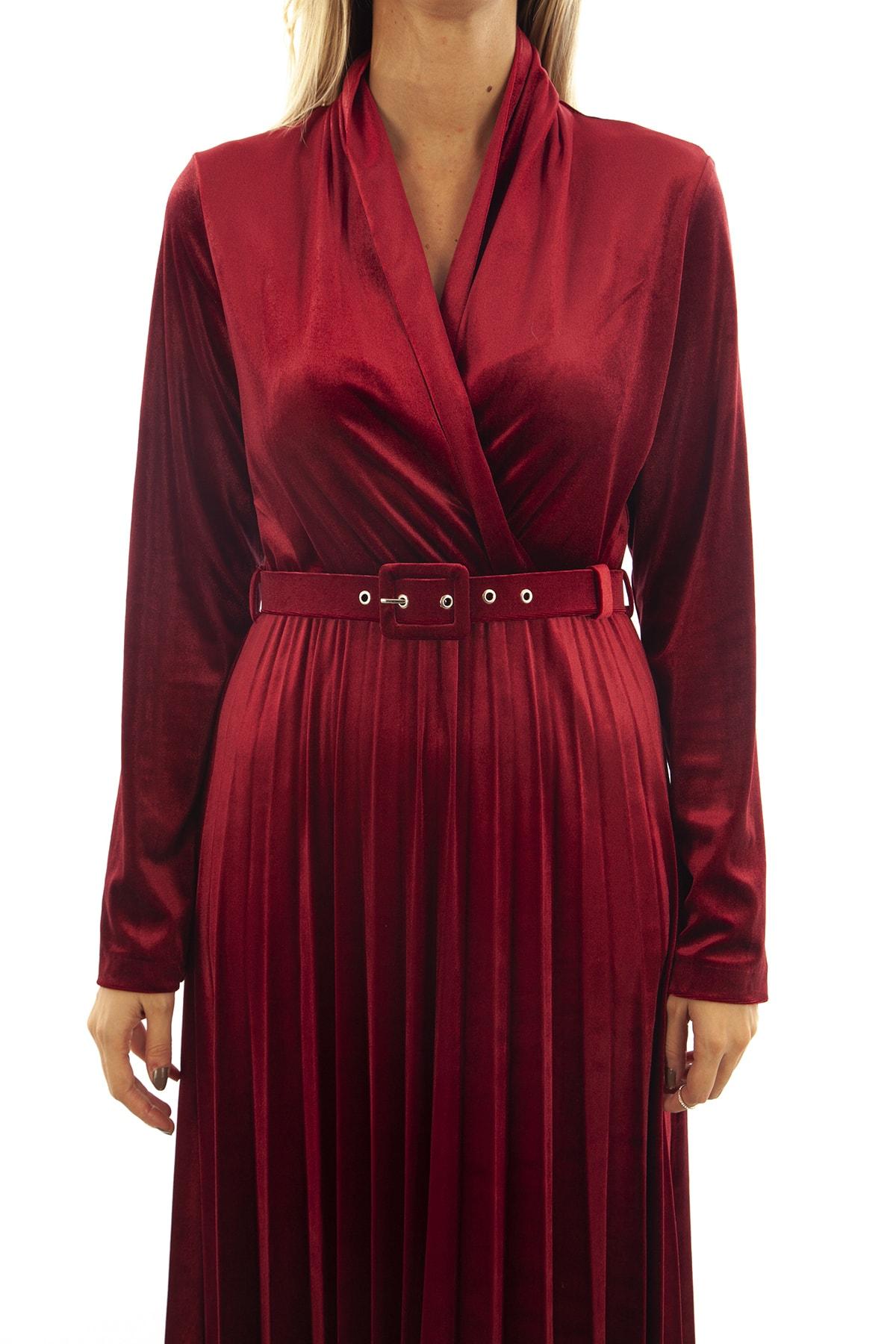 Ardanewline Kadın Bordo Elbise 1024235 2