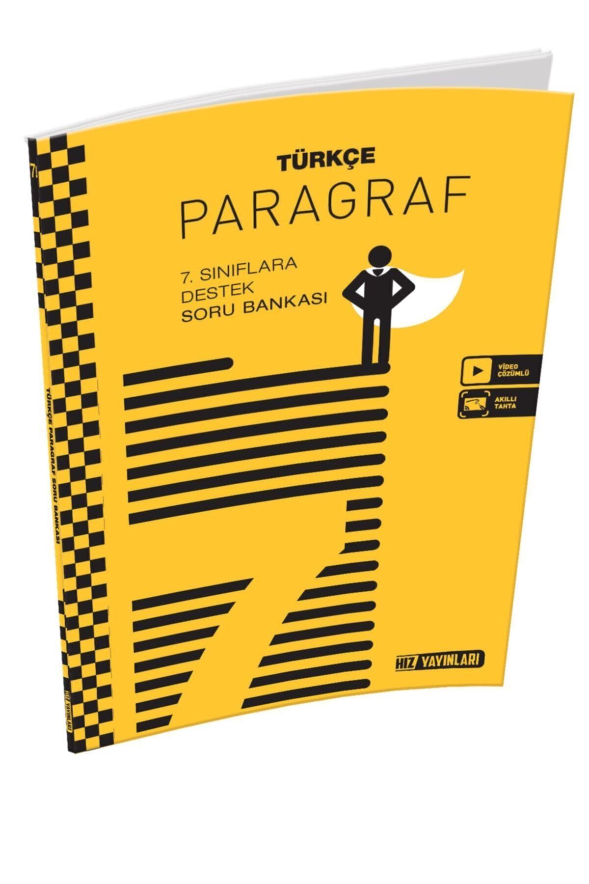 Hız Yayınları Hız 7.sınıf Türkçe Paragraf Soru Bankası 1