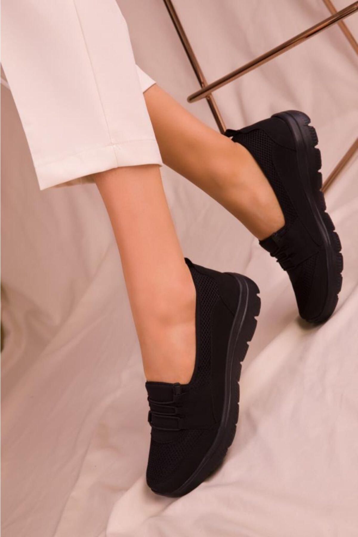 Fogs Kadın Siyah Rahat Taban Günlük Ayakkabı 1