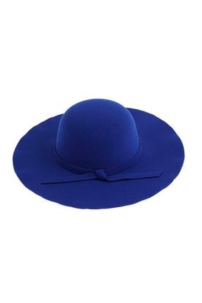 Bay Şapkacı Geniş Kenarlı Kaşe Lacivert Fötr Şapka 7172