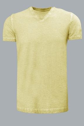 Lufian Erkek Geras Basic T- Shirt Sari 111020008100900