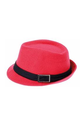Bay Şapkacı Kaşe Kadın Kırmızı Fötr Şapka 4789