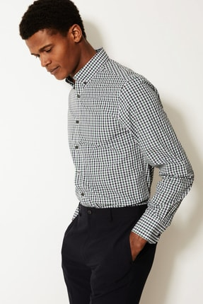 Marks & Spencer Erkek Green Mix 2'li Pamuk Karışımlı Slim Fit Gömlek Seti T11002276S