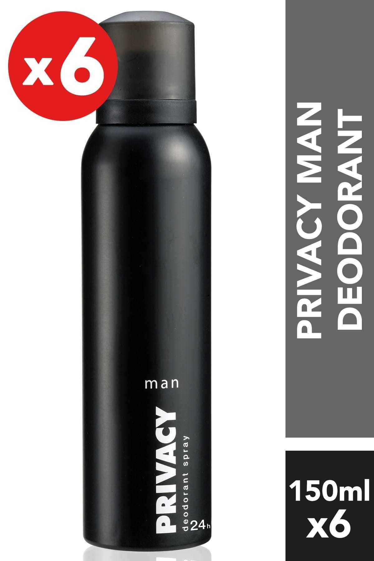Privacy 6'Lı Erkek Deodorant - 6X150 ml 1