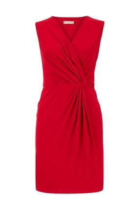 Mudo Kadın Kırmızı Kruvaze Yaka Mini Elbise 351368