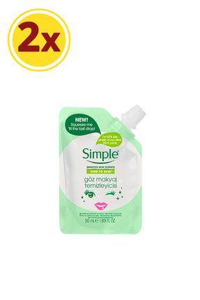 Simple Kind To Skin Mini Göz Makyaj Temizleyicisi 50 Ml X2