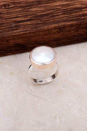 Sümer Telkari Rose Gümüş İnci Taşlı Yüzük 2910
