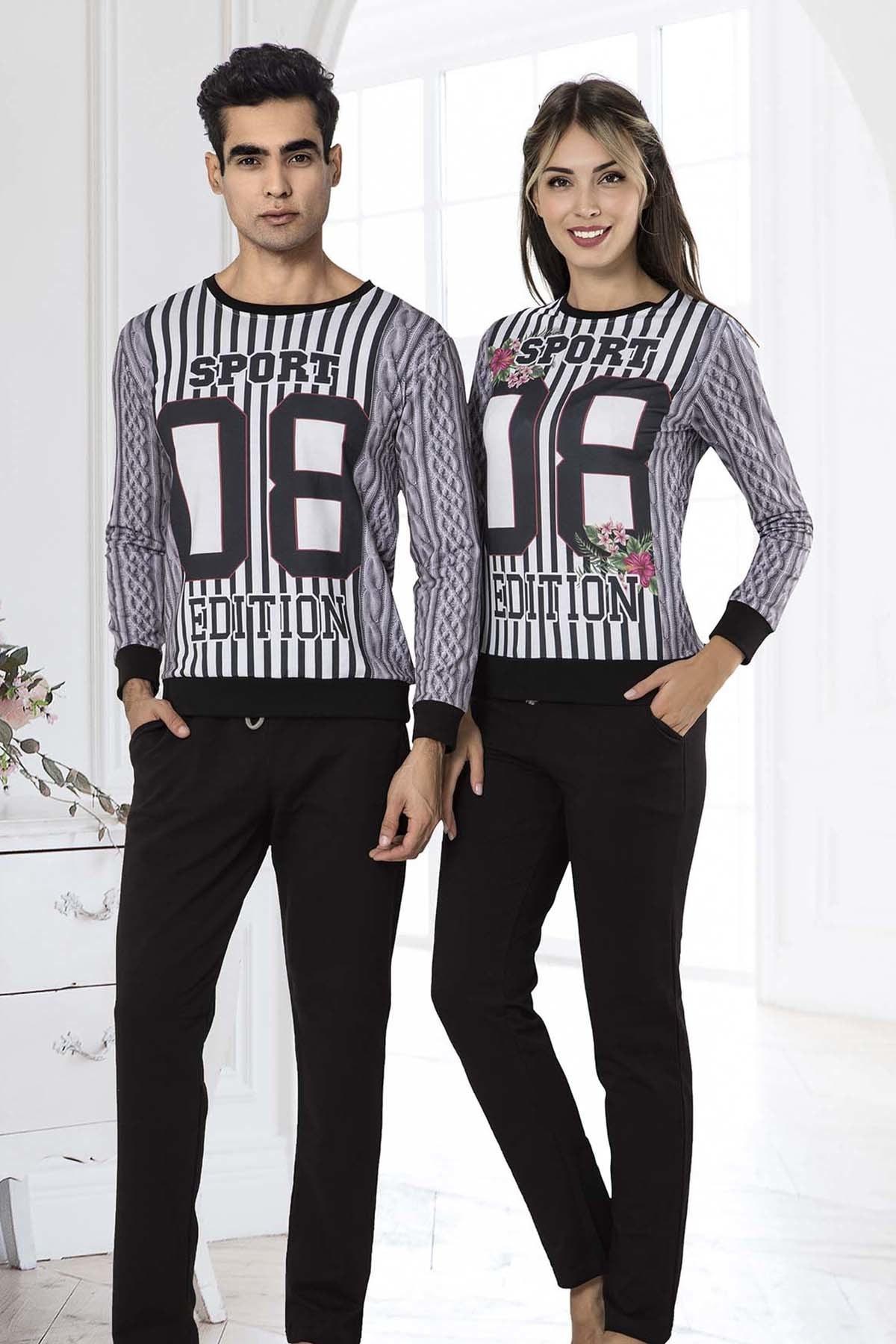 İPEKTENİM TEKSTİL Kadın Siyah Pijama Takım 2