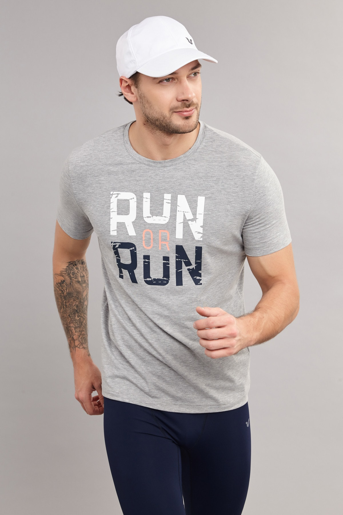 bilcee Gri Pamuklu Erkek  T-Shirt ES-1362