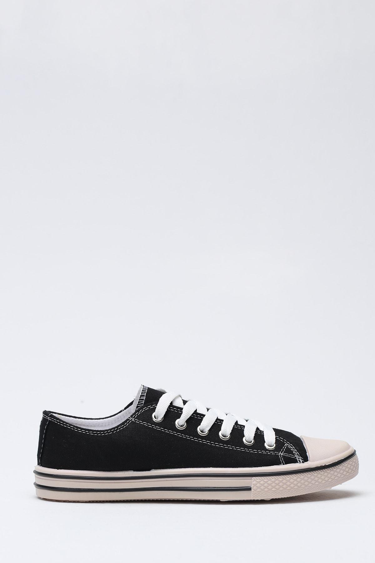 Ayakkabı Modası Siyah Krem Kadın Ayakkabı M9999-19-100165R 1