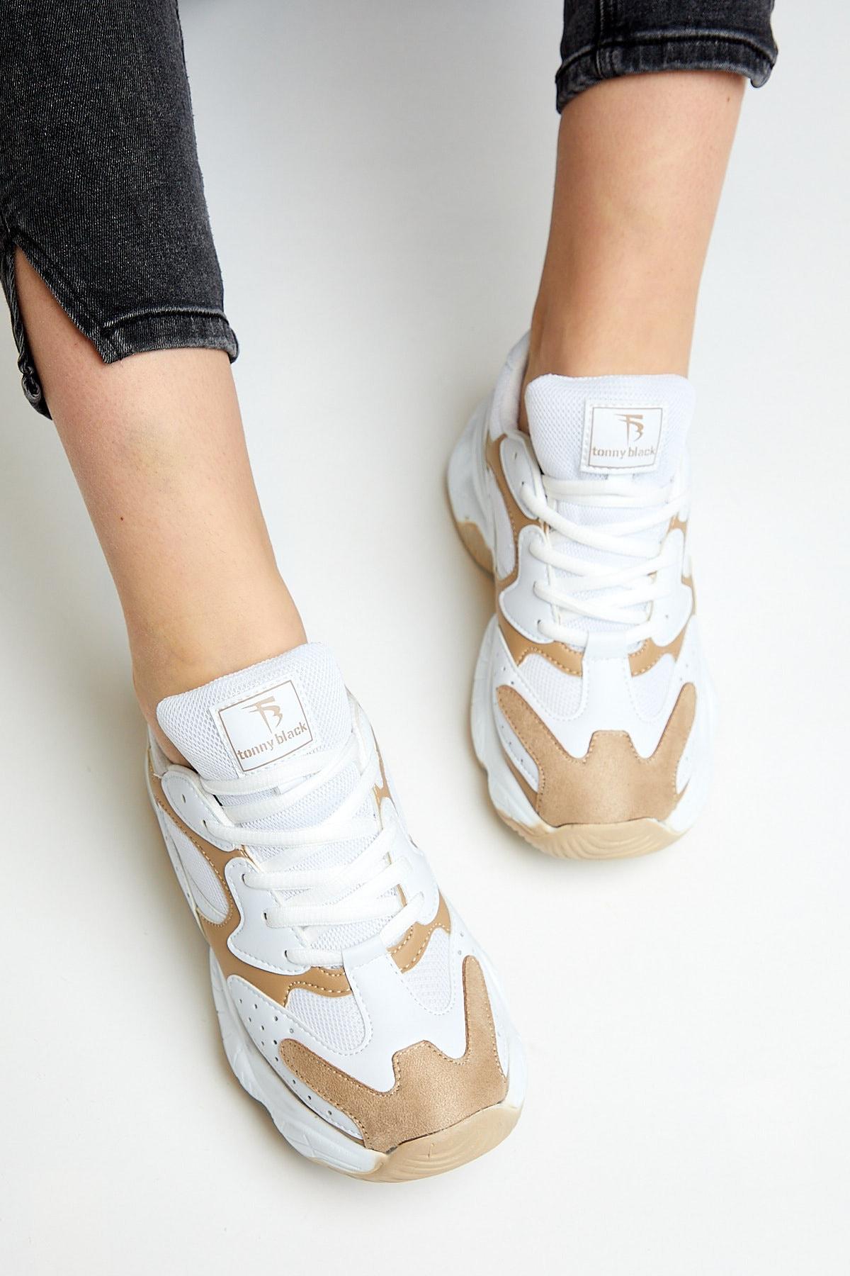 Tonny Black Kadın Beyaz Toprak Spor Ayakkabı Tb284 1