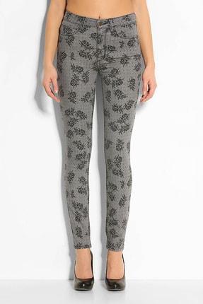 Guess Collection Kadın Gri Siyah Desenli Pantolon W44AA2D1ON0