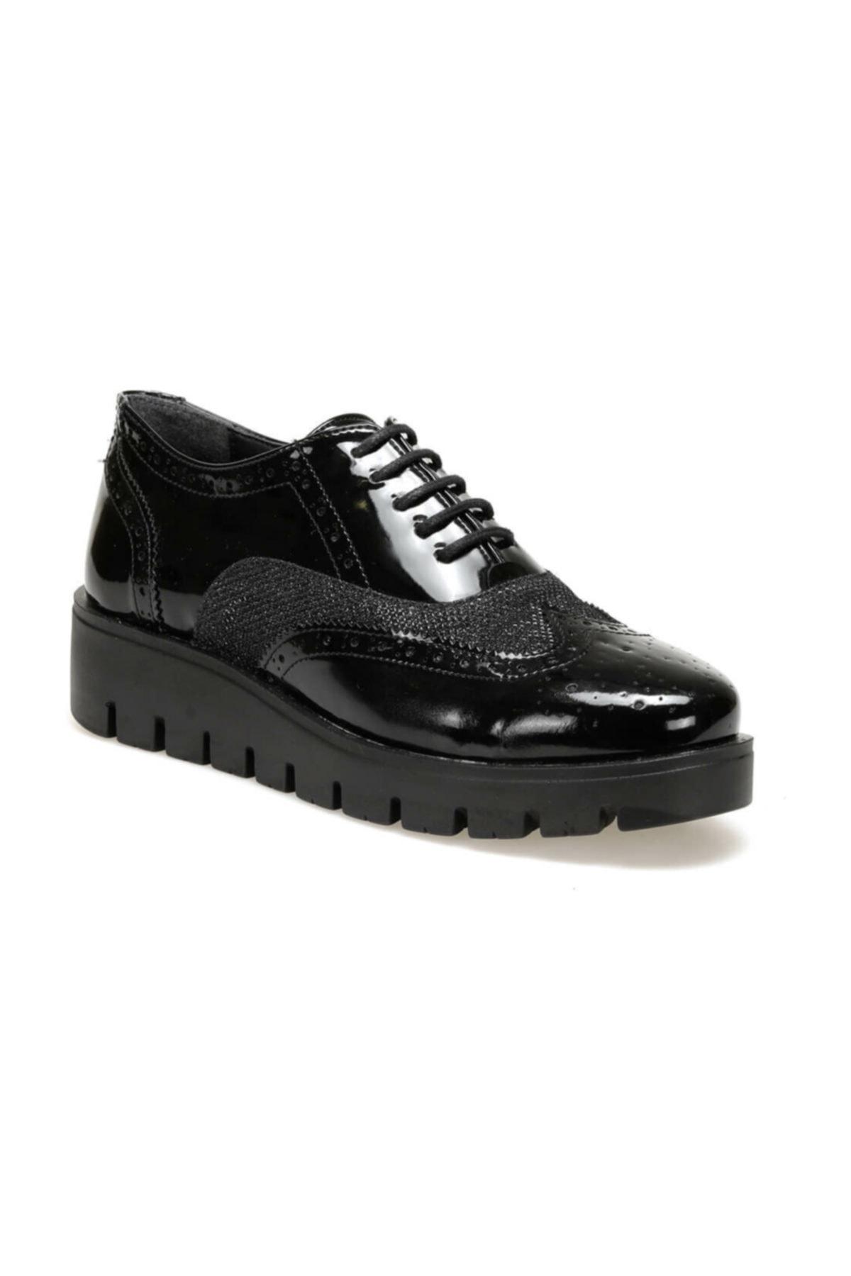 Butigo 19k-007 Siyah Kadın Oxford Ayakkabı 1