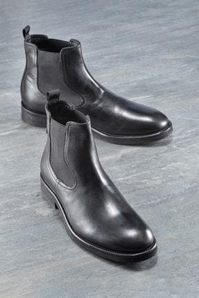 Elle Shoes DONNEL Hakiki Deri Siyah Erkek Bot