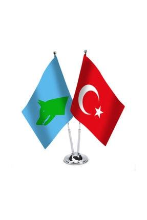 Asilmeydan Göktürk İmparatorluğu Ve Türkiye - İkili Masa Bayrağı