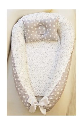 TEZKOTEKSTİL Anne & Baba Yanı Bebek Uyku Yatağı Ve Yastığı %100 Pamuk