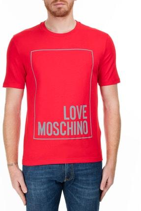 Love Moschino Erkek Kırmızı T-Shirt S M47323Le1811 O91