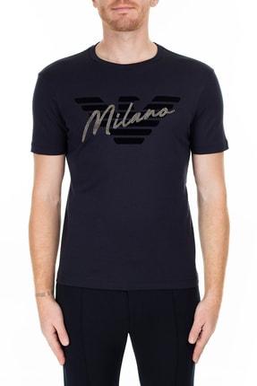 Emporio Armani Lacivert T Shirt Erkek T Shirt 6G1Tf0 1Jprz 0922