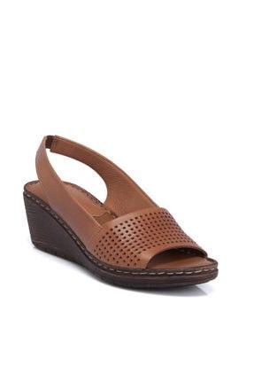 Tergan K.Taba Deri Kadın Sandalet 64337L18