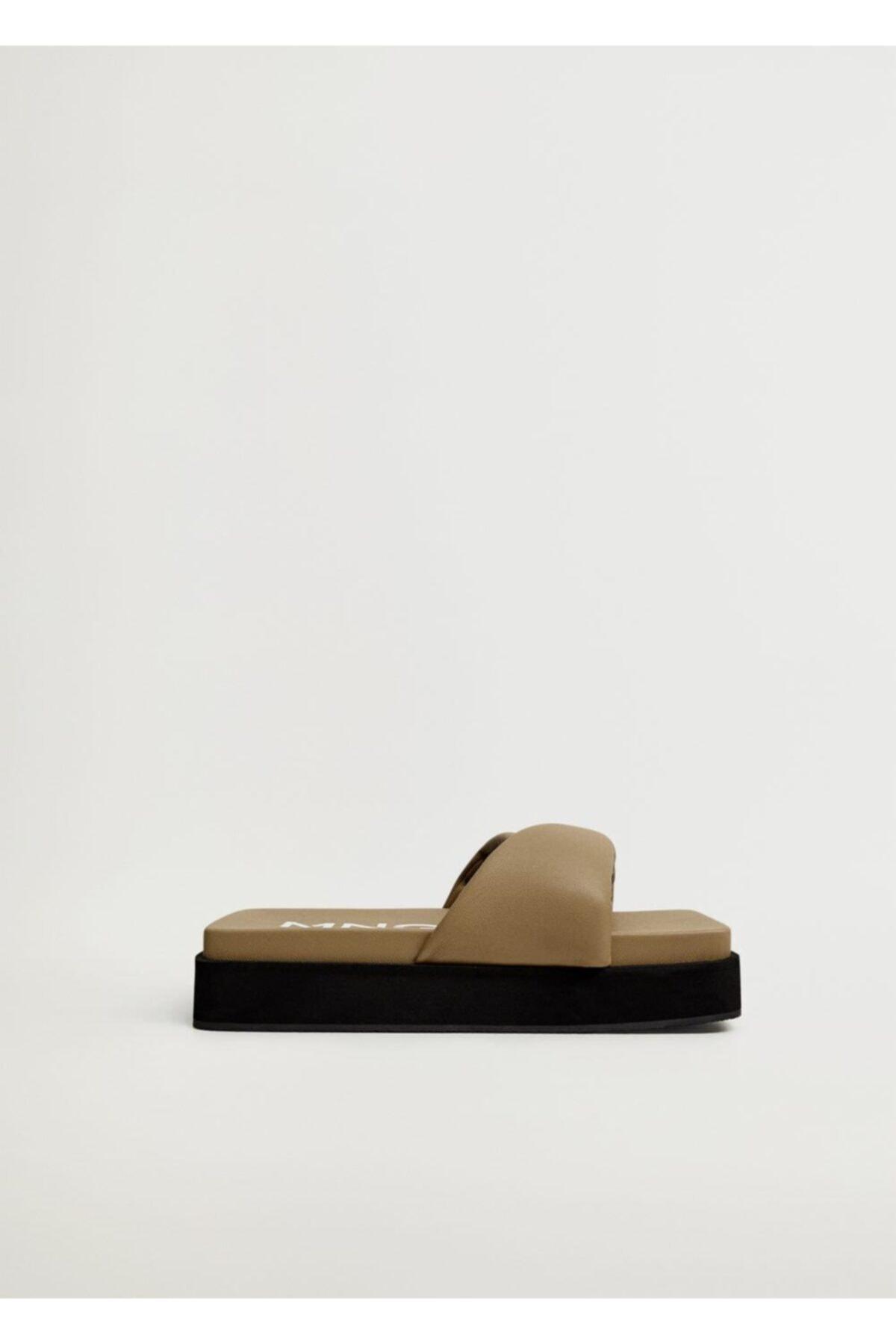 MANGO Woman Kare Platform Sandalet 2