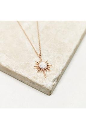 MySilvers Beyaz Opal Taşı Gümüş Kolye Kadın Rose