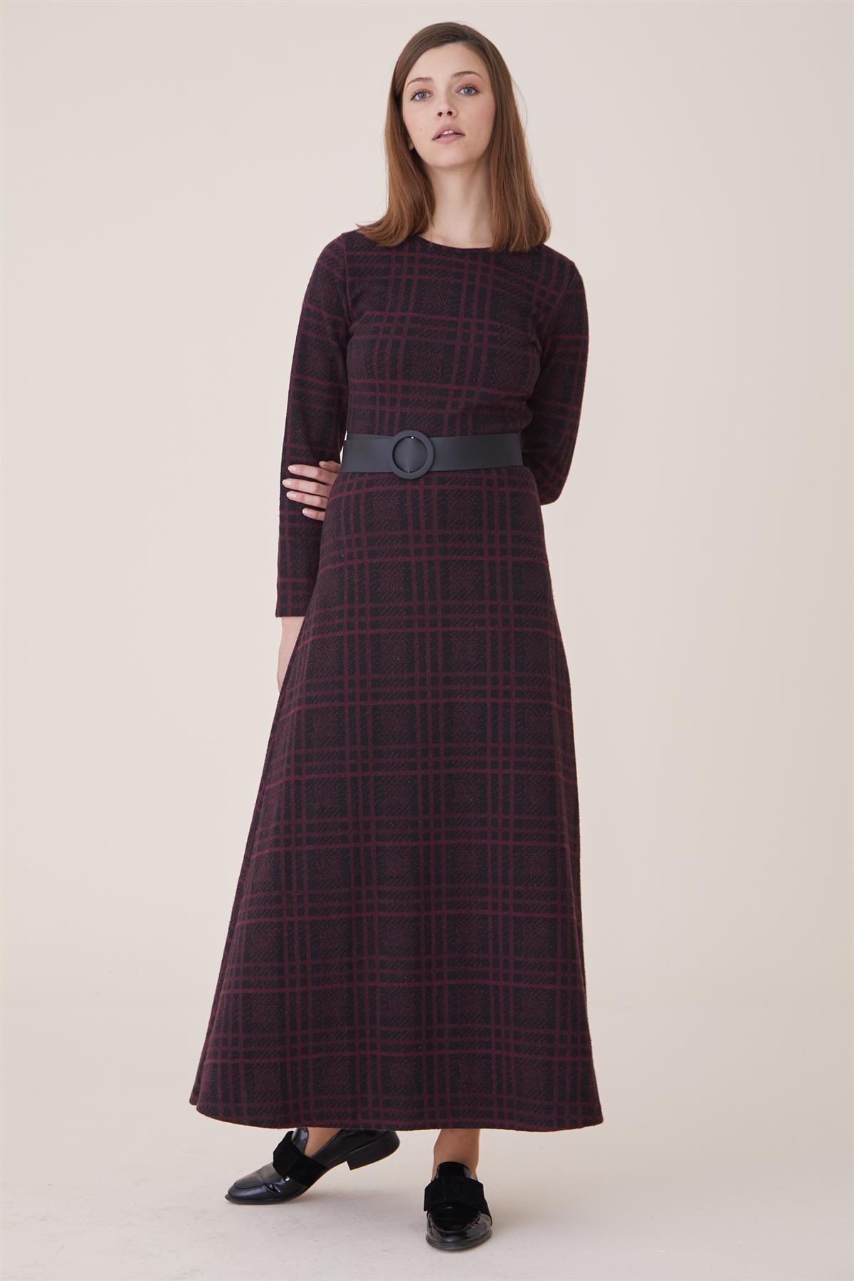 Nassah Kadın Bordo Elbise Nassah-UU-9W6070 1