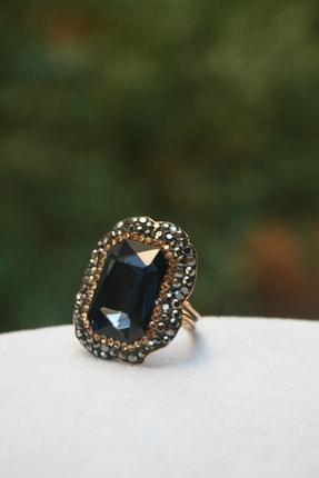 Stoneage Jewellery Kristal Taşlı El Yapımı Bayan Yüzük