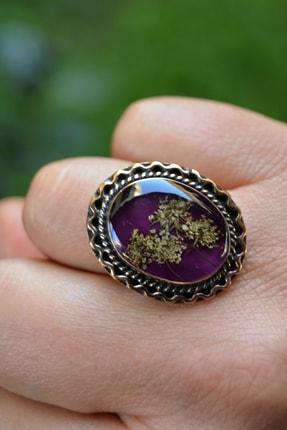 Stoneage Kuru Çiçek Bayan Ayarlanabilir Yüzük