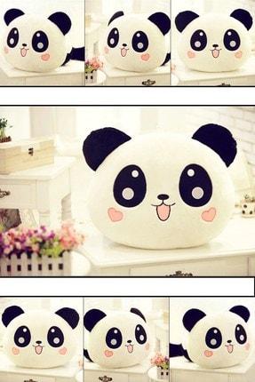 Vivyan Panda Figürlü Kalp Yanaklı Sevimli Peluş Yastık