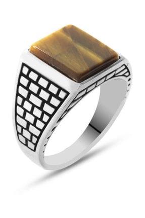 Tesbihane Kaplangözü Taşlı 925 Ayar Gümüş Kaledar Yüzüğü