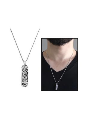 Tesbihane Nalı Şerif İşlemeli 925 Ayar Gümüş Cevşen Kolye 103000996