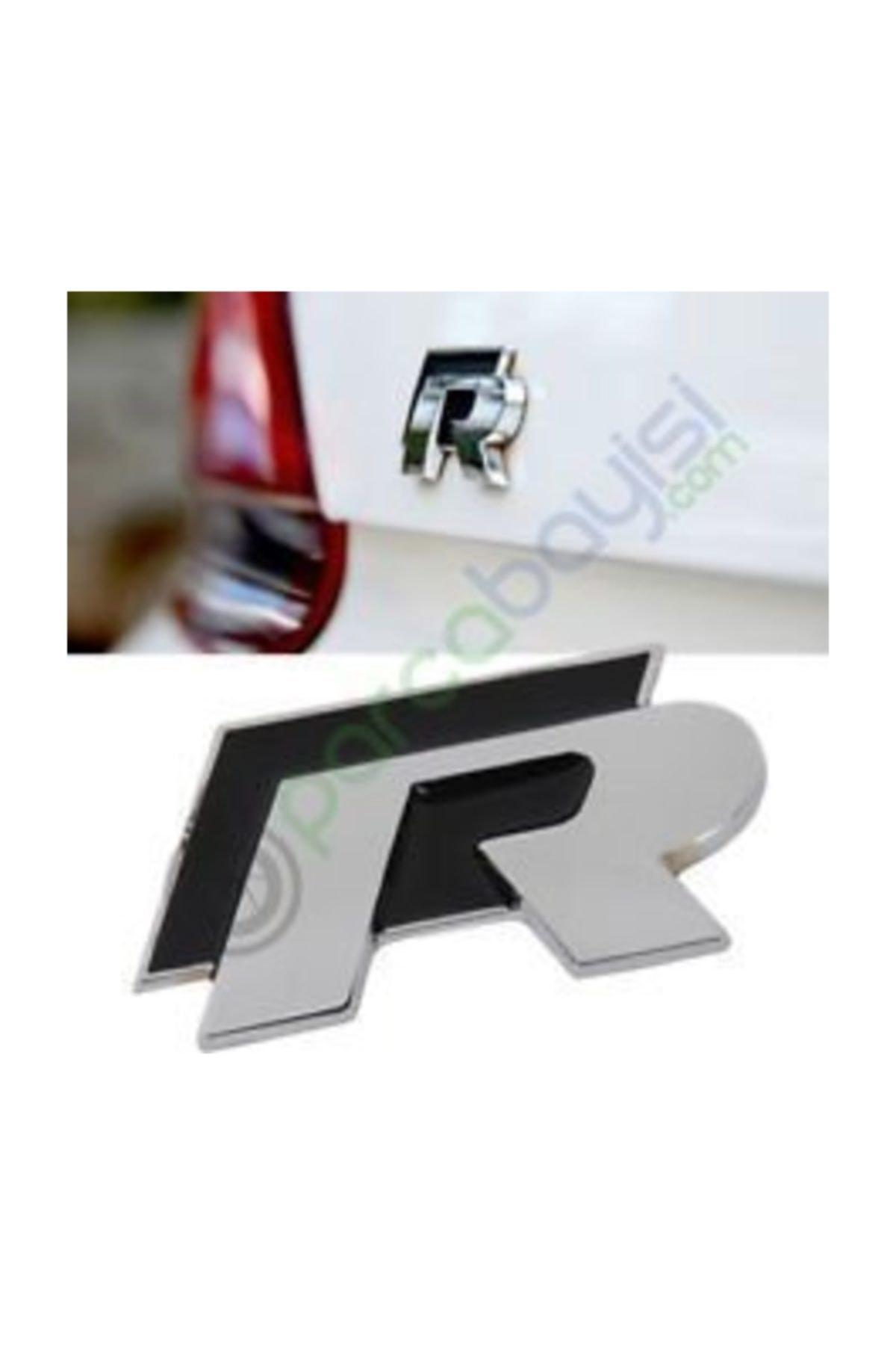 Volkswagen R Logo Metal 3d Amblem Orjinal Style Siyah 1