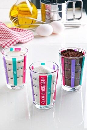 Kitchen Life Renkli 3'lü Ölçü Bardağı Seti