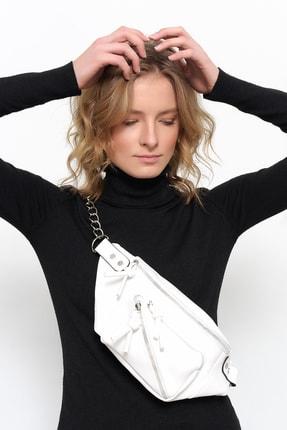Bagzone Beyaz Kadın   Bel Çantası 10HD3001