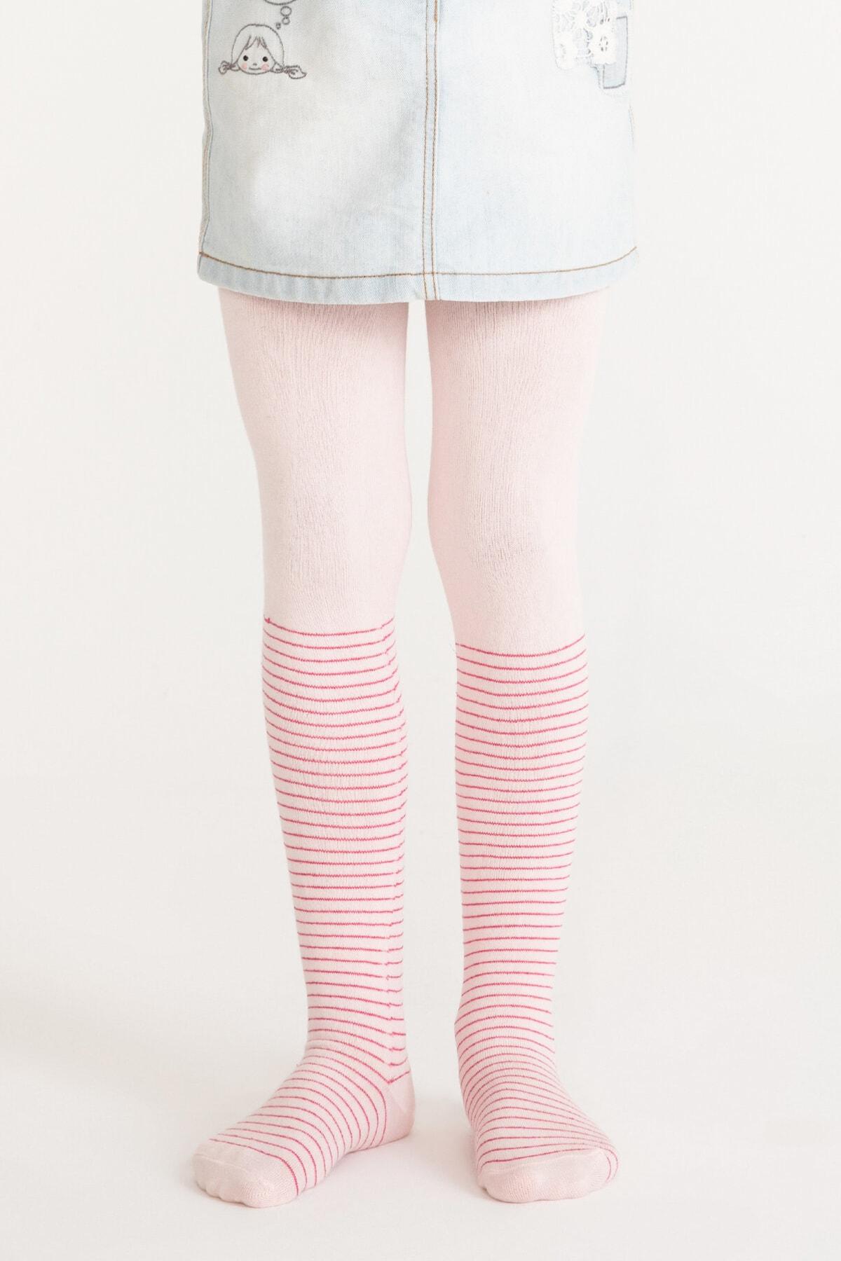 Penti Pembe Pretty Crystal Külotlu Çorap 1