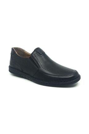Taşpınar Erkek Siyah Deri Comfort Günlük Yazlık Ayakkabı 40-44