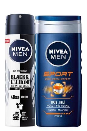 Nivea B&w Original Erkek Sprey Deodorant 150 Ml + Sports Erkek Duş Jeli 250 Ml